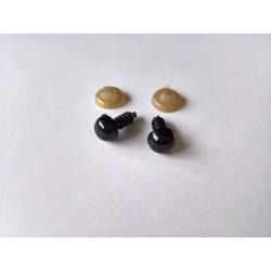 Turvasilmad mustad 7 mm