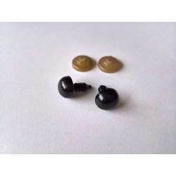 Turvasilmad mustad 9 mm