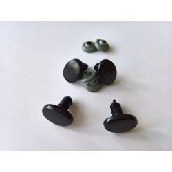 Turvasilmad piklikud mustad 13 mm
