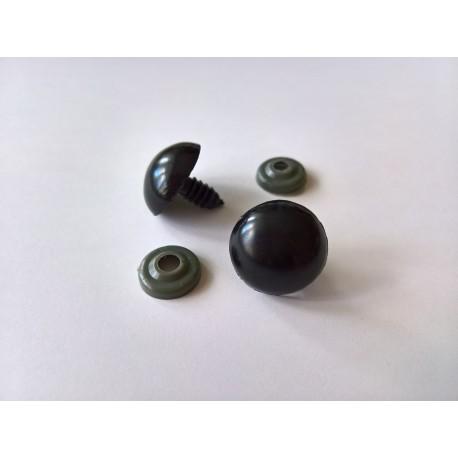 Turvasilmad mustad 18 mm