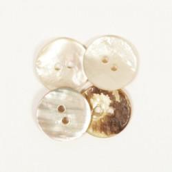 DROPS nööp Kaardus (valge) 15 mm