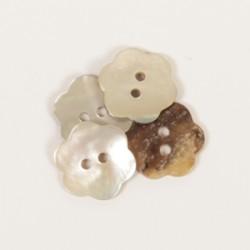 DROPS nööp Lill (valge) 15 mm