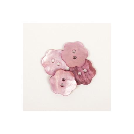 DROPS nööp Lill (roosa) 15 mm