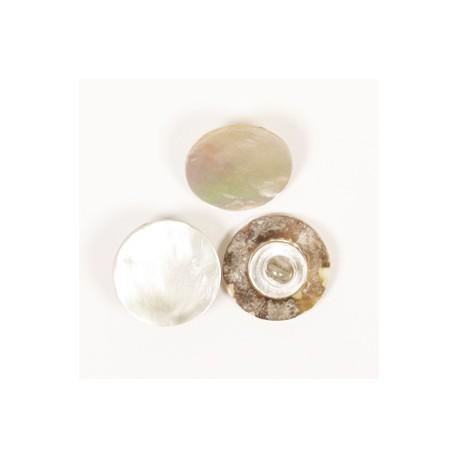DROPS nööp Jalaga (valge) 15 mm