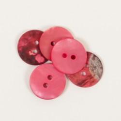 DROPS nööp Ümar (punane) 15 mm