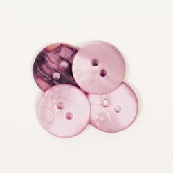 DROPS nööp Ümar (roosa) 15 mm