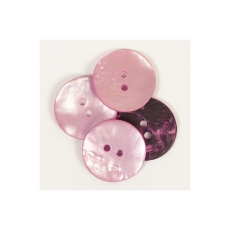 DROPS nööp Ümar (roosa) 20 mm