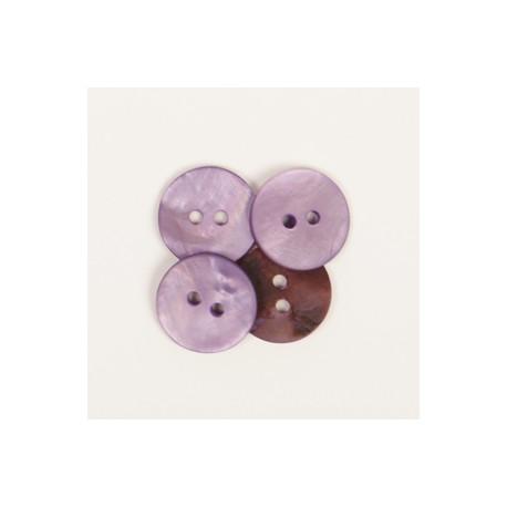 DROPS nööp Ümar (lilla) 15 mm
