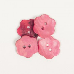 DROPS nööp Lill (punane) 15 mm