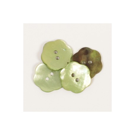 DROPS nööp Lill (roheline) 20 mm